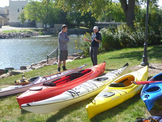 Fox River Paddle Sports: The Fox River is a popular paddling destination for kayakers.