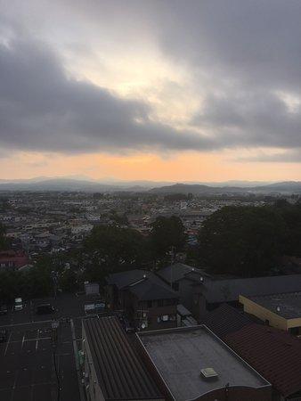Grand Ciel Hanamaki: Sunrise view from the room.
