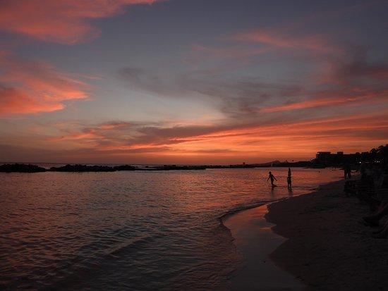 Sunset at Mambo beach