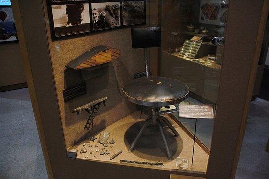 Frontiers of Flight Museum: stool from a zeppelin