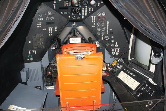 Frontiers of Flight Museum: interior of SR-71 flight simulator