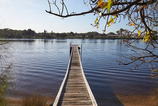 Rivervale, Australia: Jetty overlooking the Swan River.