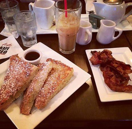 Totowa, NJ: french toast, iced coffee, side of bacon!