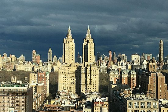 Hotel Beacon: One view from our corner room--the San Remo and Central Park.
