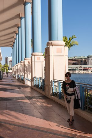 Tampa Riverwalk: Better half with a wall of columns