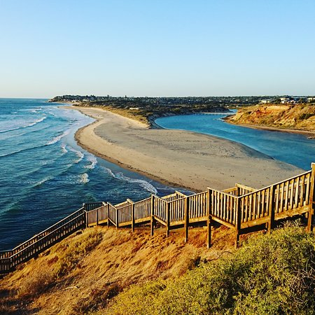 Best Kept Secret Tours: The iconic staircase at the Onkaparinga River Mouth