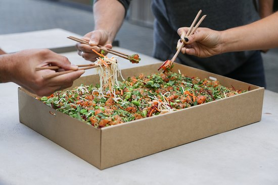 Nudefish Poke: Our poke box is ready to be delivered to your door! Check www.nudefish.com.au/ourcatering/ for i