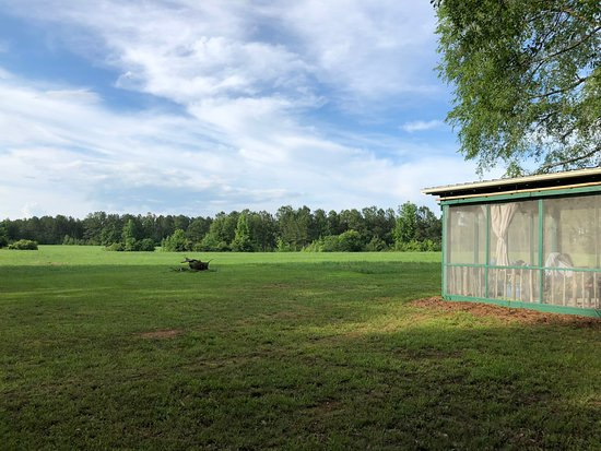Mockingbird Hill Farm : field house and view