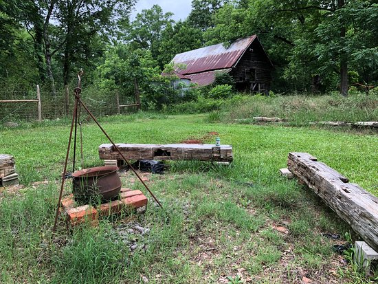 Mockingbird Hill Farm : fire pit and older barn (not the gathering area)