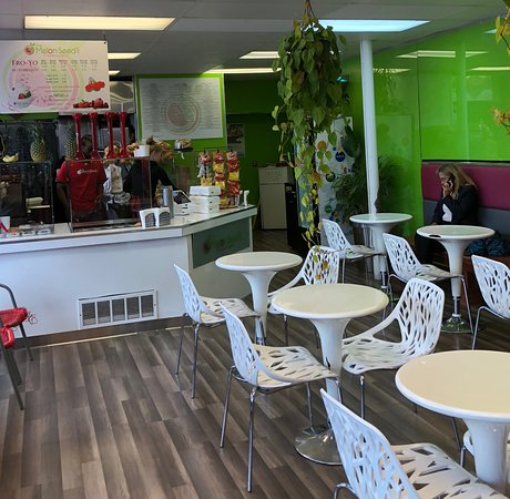 The Melon Seed Deli & Frozen Yogurt: one of the dining areas