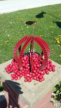 Forestville, WI : Cherry lawn ornament