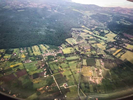 United Airlines: Rural Lazio. Approximately 10 minutes prior to landing in Fiumicino.