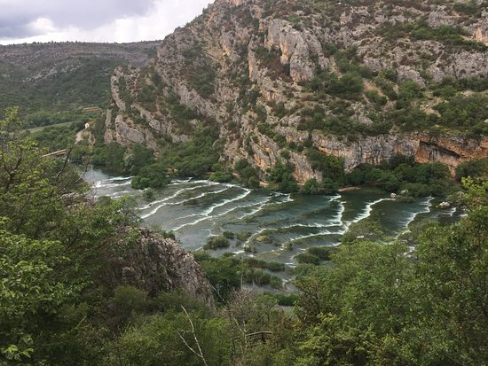 Krka National Park: Views from the climb to the cave