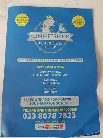 写真Kingfisher Fish and chips枚