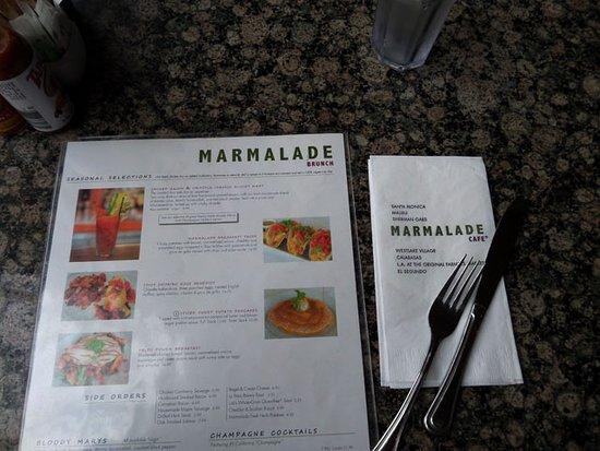 Marmalade Cafe Los Angeles Menu