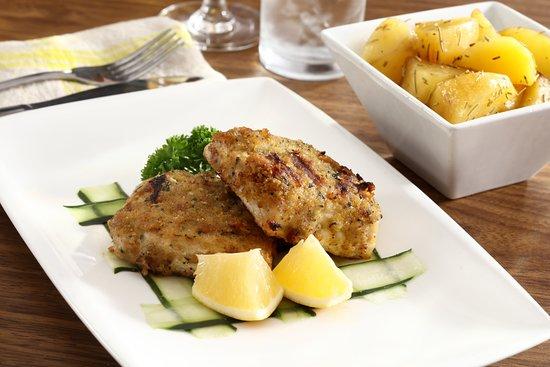 Aria Restaurant: Trancio di pesce Impanato (grilled fish)