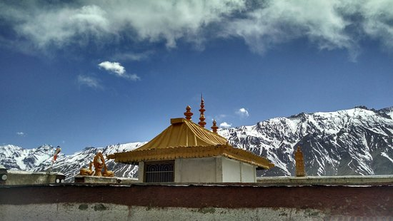 Lahaul and Spiti District, Indien: The view from temple