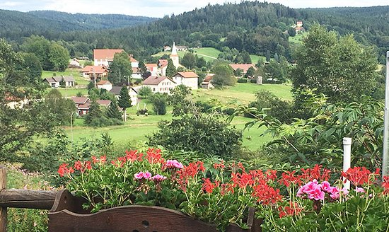 Auberge de Liézey: Vue de la terrasse