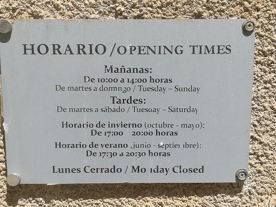 Museo Municipal de la Cuchillería: horario
