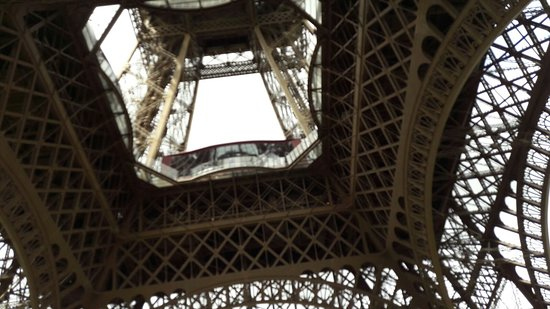 View from under the Eiffel Tower Paris France