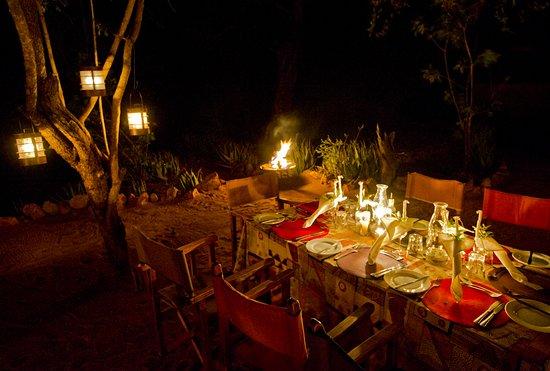 Timbavati Private Nature Reserve, Sydafrika: Umlani dinner alfresco