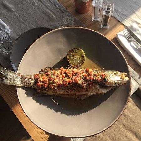 DA Restaurant: Сибас на гриле