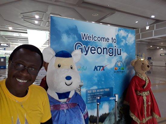 KTX (Korea Train Express) : Estación del Tren Bala en Gyeongju, Korea