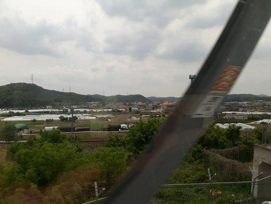 KTX (Korea Train Express) : Recorrido del Tren Bala de Busan a Seul, Korea