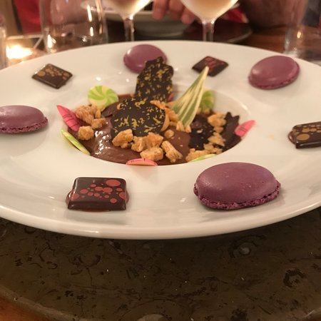 Citadelle Vauban - La Table du Gouverneur: Dessert chocolat/caramel
