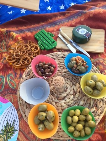 Gozo Picnic: ... when in Olive Grove