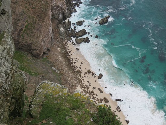 Cape Point Nature Reserve: Looking down to Cape Point