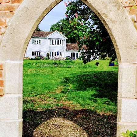 Hare Lodge Holidays: View of the house from the folly
