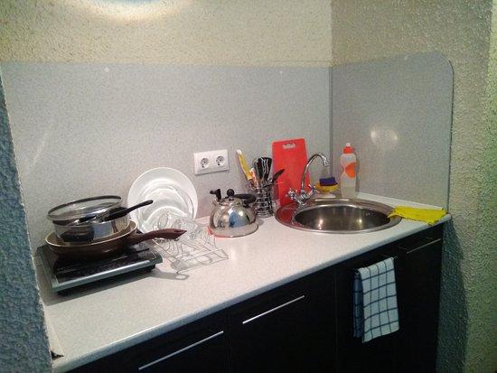 Podvor: Мини-кухня в нашем номере