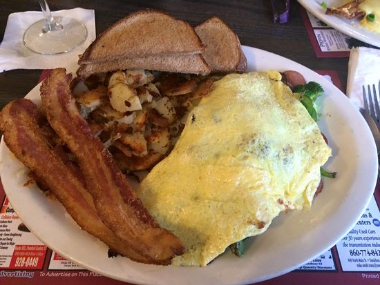 Brooklyn Country View Restaurant: Kielbasa & Pepper Omelet