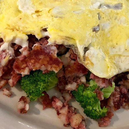 Brooklyn Country View Restaurant: Broccoli & Hash Omelet
