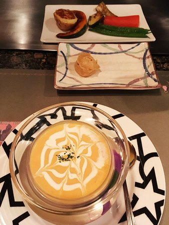Le Cerf: スープと温野菜