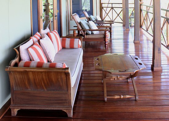 Lake Elementaita, Kenya: 'Balcony' of the room. Great place to relax and for sun downer