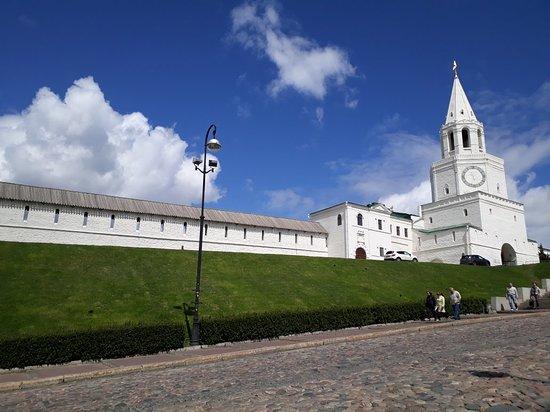 Kazan, Russia: Вид на убранство мечети