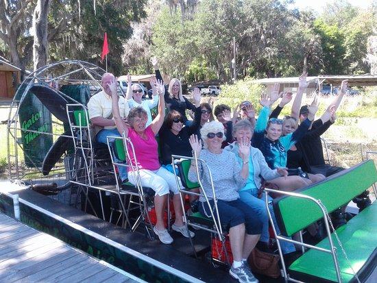 Swamp Fever Airboat Adventures: Excited Swamp Adventurers.