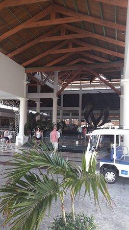 Bahia Principe Grand Punta Cana: Punta Cana lobby entrance and a golf buggy