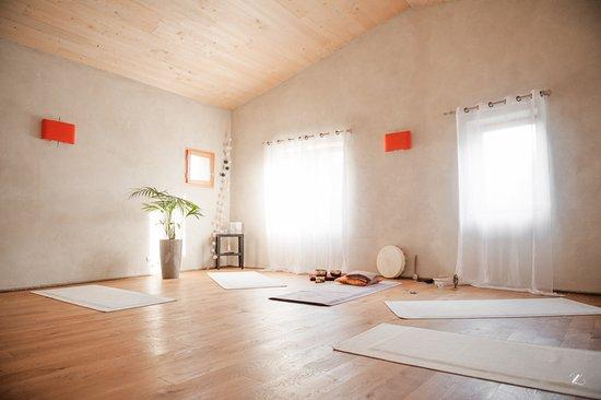 Lauris, France: Notre salle de yoga