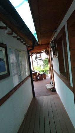 Vista desde la puerta de la Cocina del Raon Guesthouse, Gyeongju, Korea