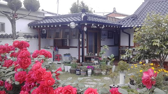 El exterior de nuestra adorable habitación en el Raon Guesthouse, Gyeongju, Korea