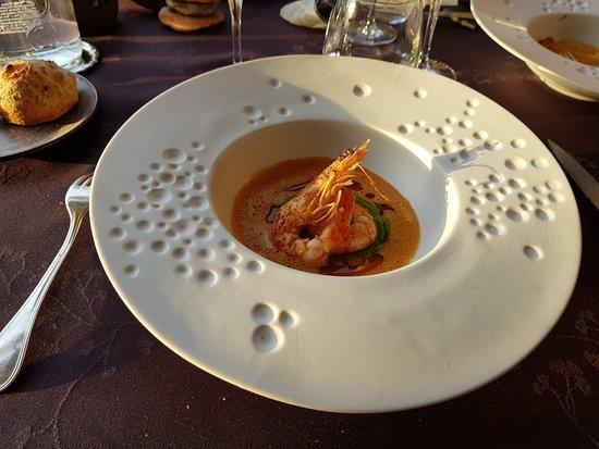 Restaurant La Balette : Plato de langostino.