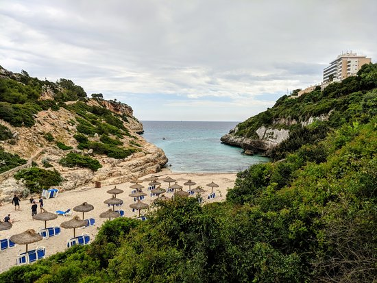 Cala Antena: View from the path above