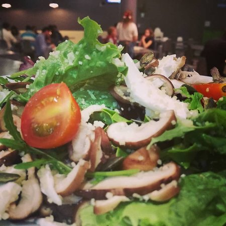 Salada com cogumelos Shitake!
