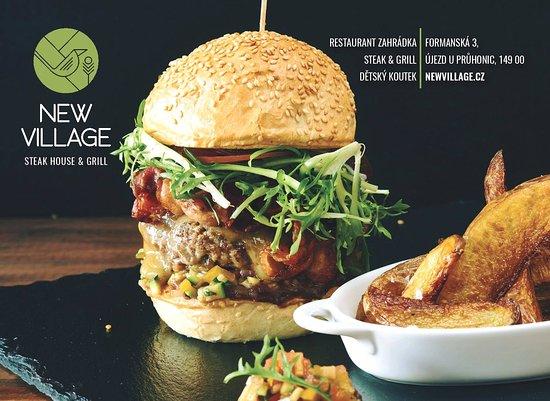 New Village: burger New village 