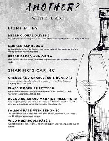 Another? Wine Bar: New menu
