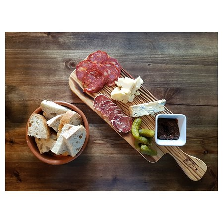 Another? Wine Bar: Cheese and meat board
