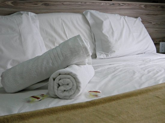 Hotel Recanto Paraíso da Serra: Toalha de roupas de cama